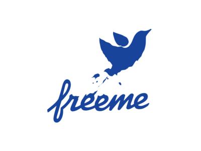 Freeme blot bird debt finance logotype logo identity branding
