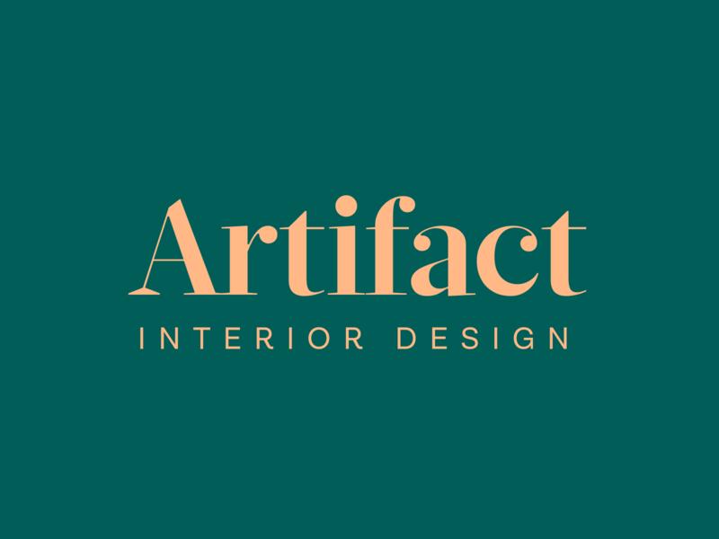 Logo branding • Artifact Interior Design font luxury clean flat sans serif bold elegant text simple modern serif logotype brand