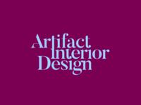 Logo branding v0.3 • Artifact Interior Design design clean art bold contrast colorful brand identity text layout creative modern serif font lettering typography logotype brand