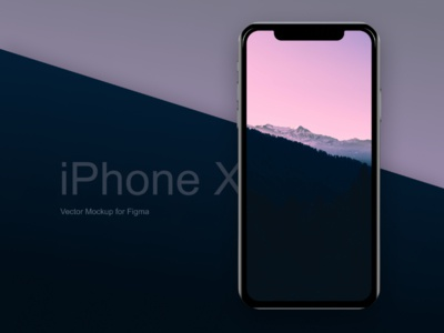 iPhone X - Vector mockup for Figma