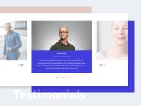 Testimonials - Website Exploration