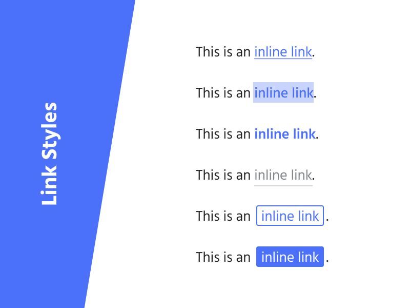 Inline link styles exploration formatting type text inline hyperlink link