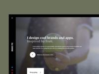 Home page video hero • personal portfolio website