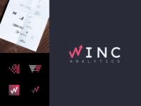 Logo branding design • Winc Analytics