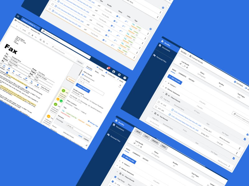 Legal document web app • Epiq by Isaac N C  on Dribbble