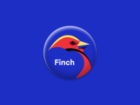 Finch illustration • camp name pin