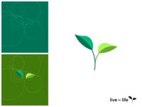 Flat geometric logo • Life for Life