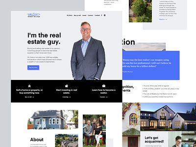 Landing page • Ronny Wilson real estate testimonial homepage realtor mosaic masonry webflow css grid light desktop creative layout clean flat website
