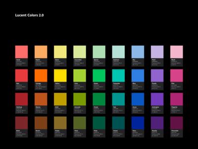 Color palette • Lucent UI kit