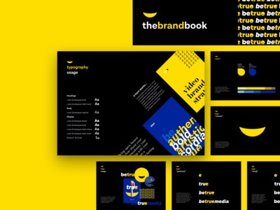 Brand guidelines book • betruemedia