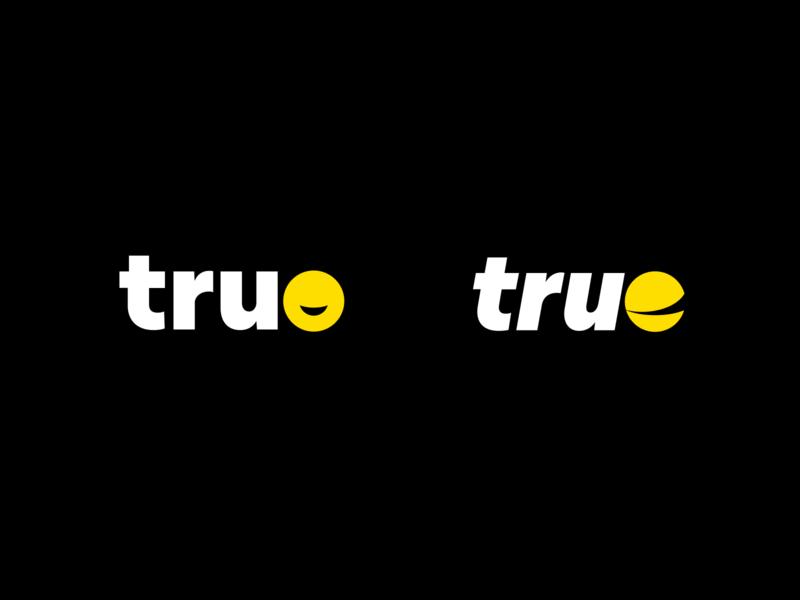 Logotype • betruemedia variants simple modern bold yellow dark branding icon logo