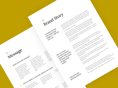 Brand messaging documents • Elan Multifamily Investments design black and white serif story simple elegant typography doc branding light clean layout print