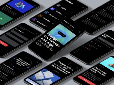 Mobile website • Personal portfolio