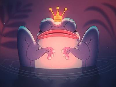 Prince Toad 🐸 👑 crown swamp frog toad vintage loop 2d 2d animation