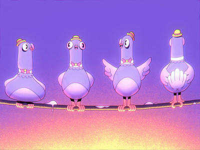 Crappy Acapela animation birds cartoon after effects vintage musical pigeon 2danimation 2d