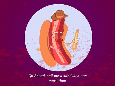 Is hot dog a sandwich? illustration design