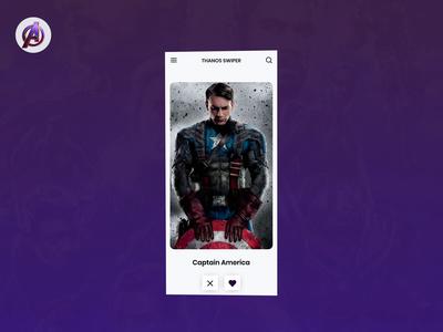 Avengers Disintegrate marvel avengers concept app animation ux  ui