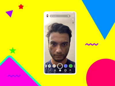 Snapchat Lense Interaction design ui  ux snapchat filter animation interaction design