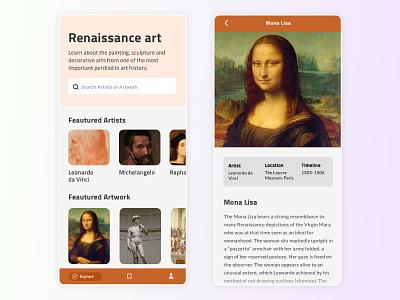 Renaissance Art - Weekly Experiment davinci product design concept appdesign app renaissance uxdesign uidesign