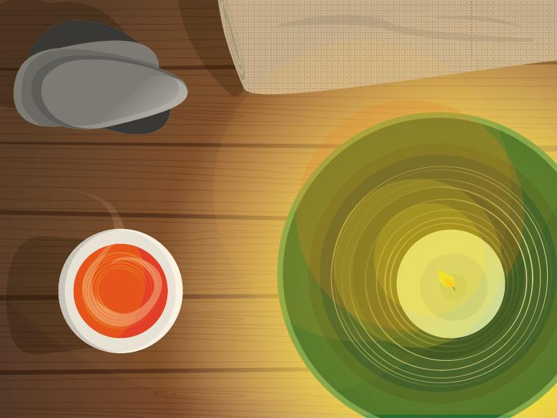 Wellness wood texture wellness spa candle sauna beauty relax illustration vector zen