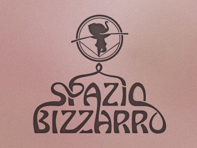 Spazio Bizzarro logo circus school logo brand circo art nouveau art déco identity