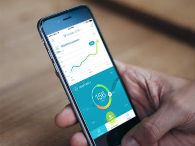 Concept of swimming monitor app.