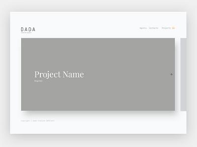 Portfolio Page projects portfolio minimal ux ui design