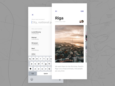 Worldwide travel x app iphone minimal minimalism ux ui design
