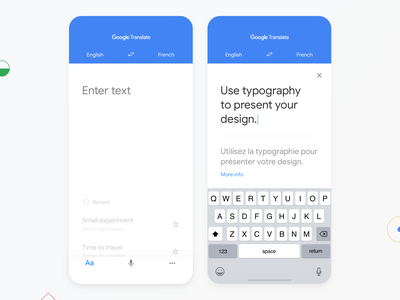 Google Translate interface typography app iphone redesign ux ui white minimal design translate google