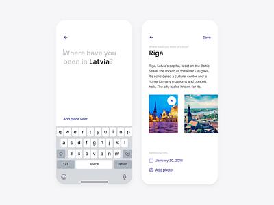 Worldwide 2 flat app interface minimal app design photos edit iphone travel white ux ui minimal