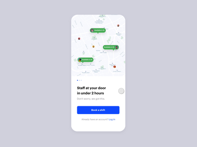 Job Today Flex Onboarding onboarding animation white iphone app interface minimal ux ui