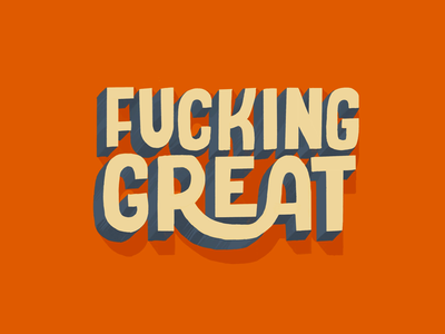 Great great illustration hand lettering lettering 3d type procreate hand drawn type typography hand draw type