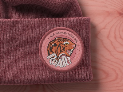 I am woman, hear me roar! tigress empowered patches patch design embroidered patch lettering roar animal tiger typography female empowerment women hand lettering hand drawn illustration