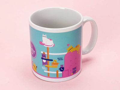 Kitty Cafe Mug Design 1