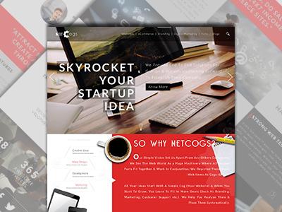 Netcogs Redesigned Website ui website redesigned netcogs