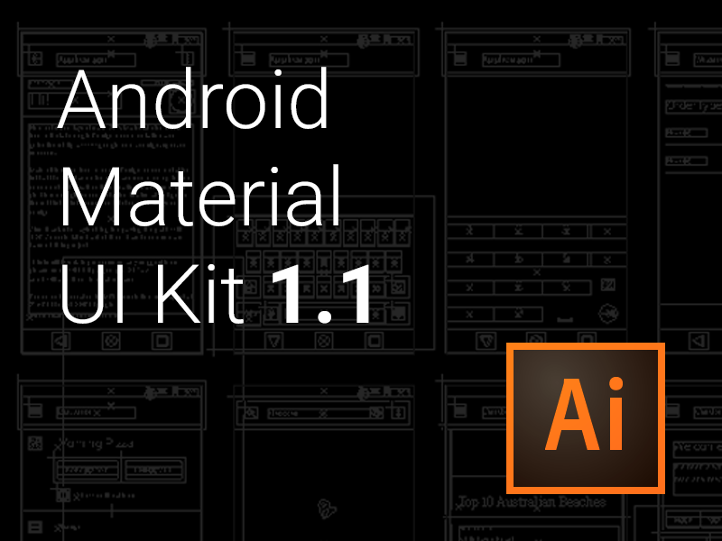 Android Material UI Kit - .ai by Jasa Z on Dribbble