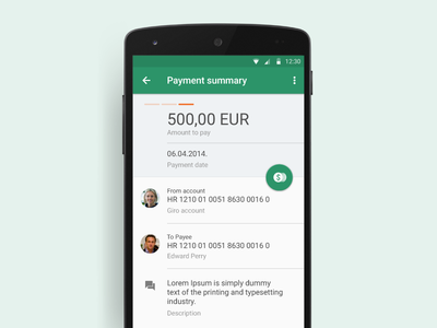 Mobile Payment Summary