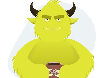 Monster adobe illustrator flat vector illustration