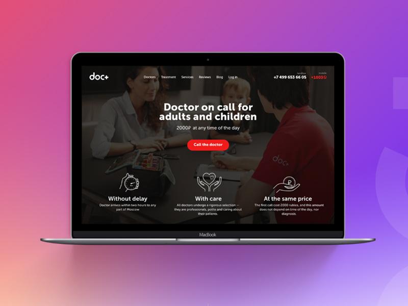 doc+ website design medical website webdesign