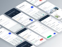 Android app for Channel Partner green application grey red blue modern app clean icons ux uxdesign ui uidesign product design