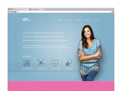 Homepage Design for HopeDx
