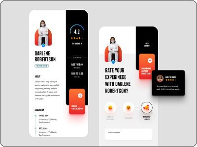 Mobile App UI modern black clean ux ui