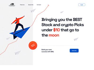 Crypto Landing Page Design pricing plans homepage design home page ui web design landing page design webdesign