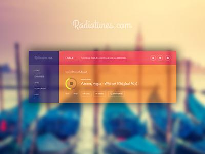 Radiotunes Music ui ux app music radiotunes.com transparent music app icons