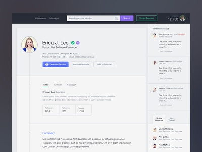 Resume Details Purchased resume application clean ux ui