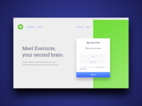 Home Page / Landing Page Evernote