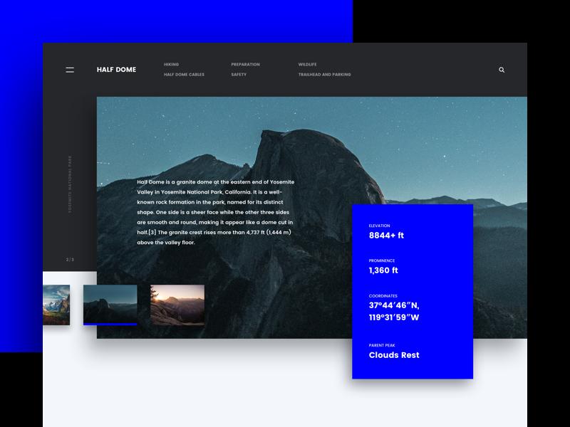 Half Dome product design ux ui web design website design home page landing page