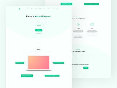 Phore - Landing Page minimalist modern clean ux ui uiux landing page home page website design web design