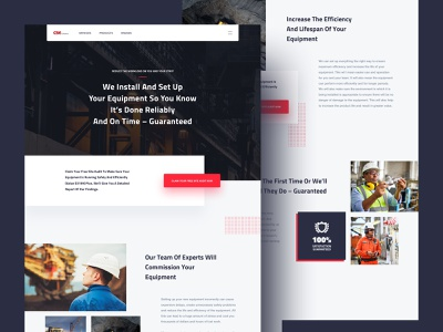 Landing Page Design homepage grey red typography design black modern icons home page ui landing page clean