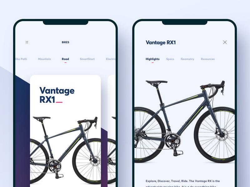 Schwinn Mobile App gradiant application ios modern app clean ux ui